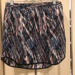 Trouve mini silk skirt with pockets